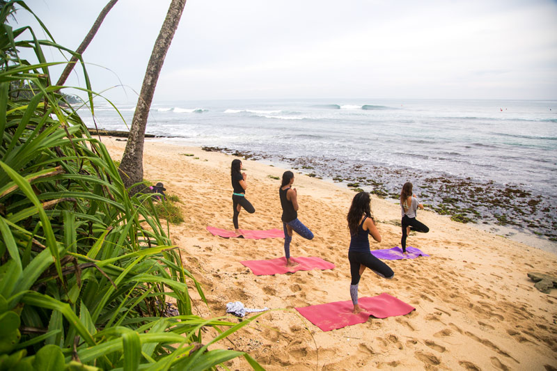 beach yoga surf sri lanka