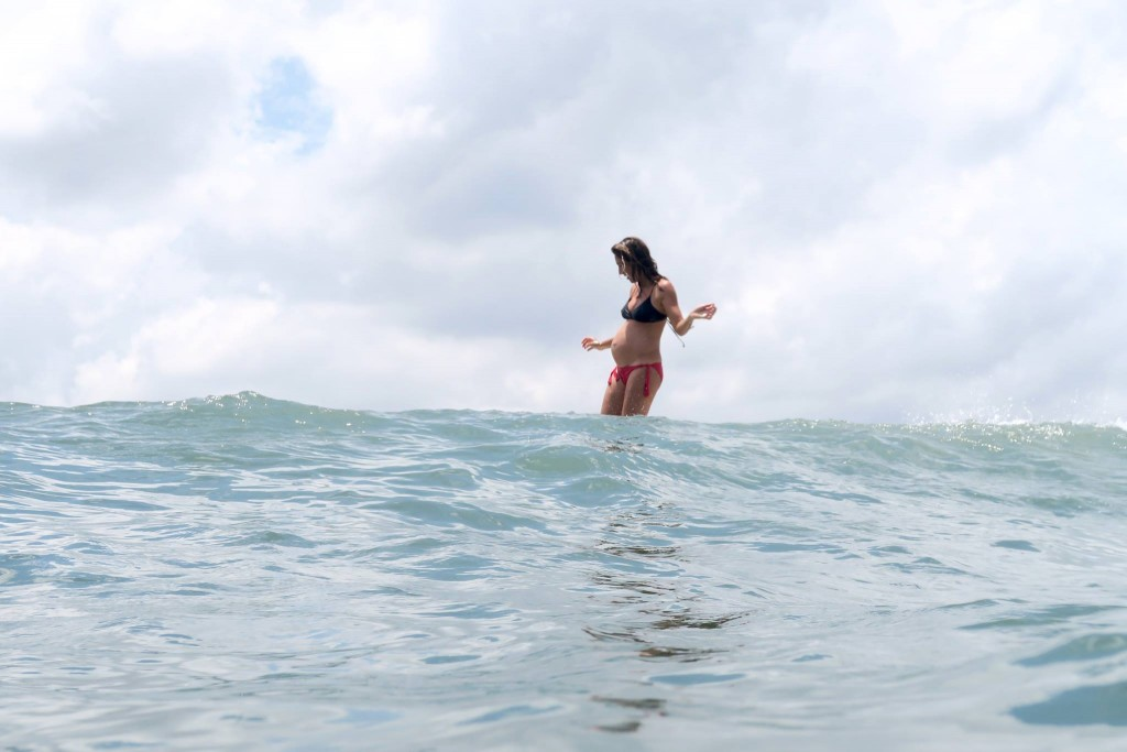 pregnant surfing