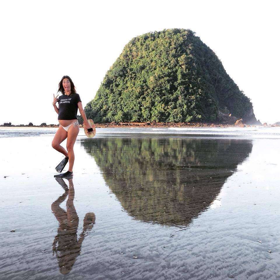 pregnant surfer surf and yoga retreat inspiration preggers
