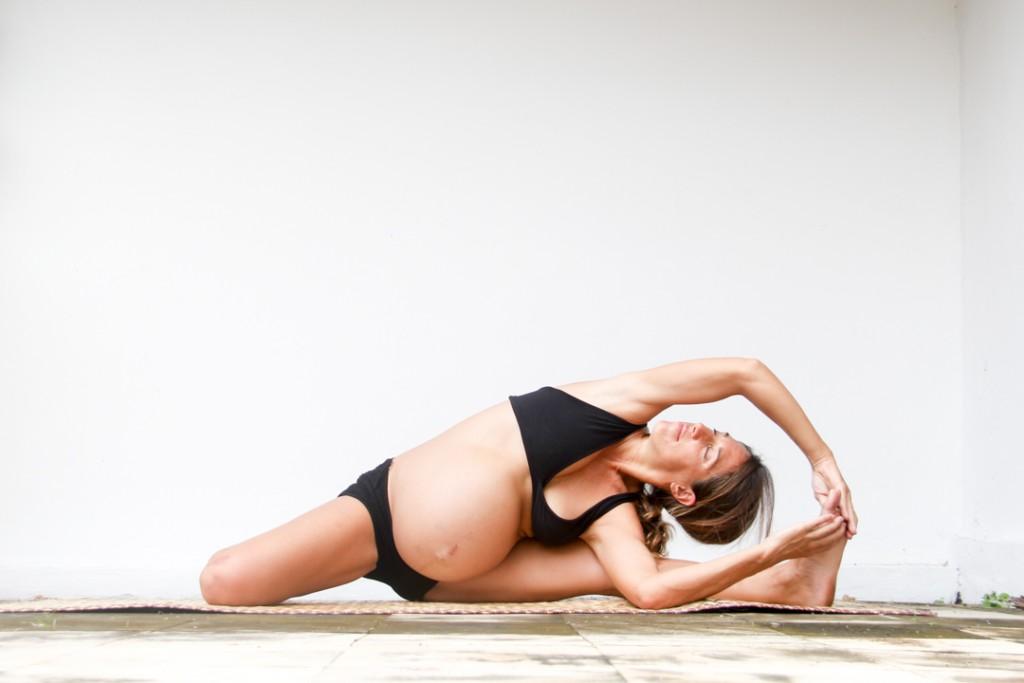 yin yoga half butterfly prenatal Kori hahn